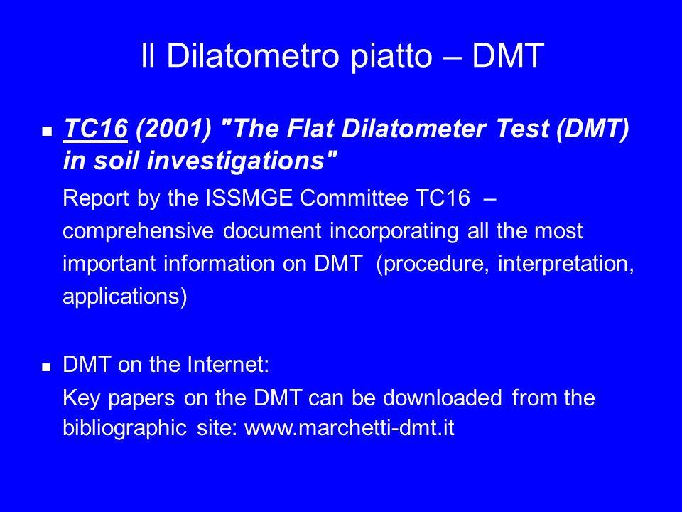 Il Dilatometro piatto – DMT