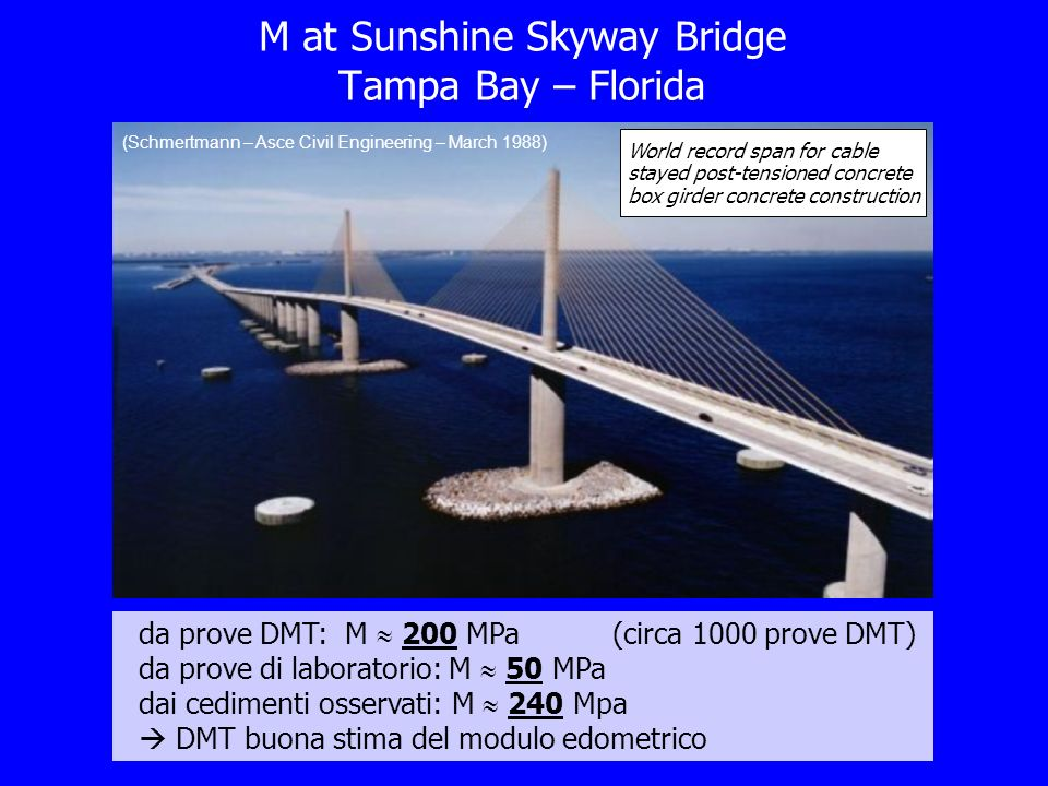 M at Sunshine Skyway Bridge Tampa Bay – Florida
