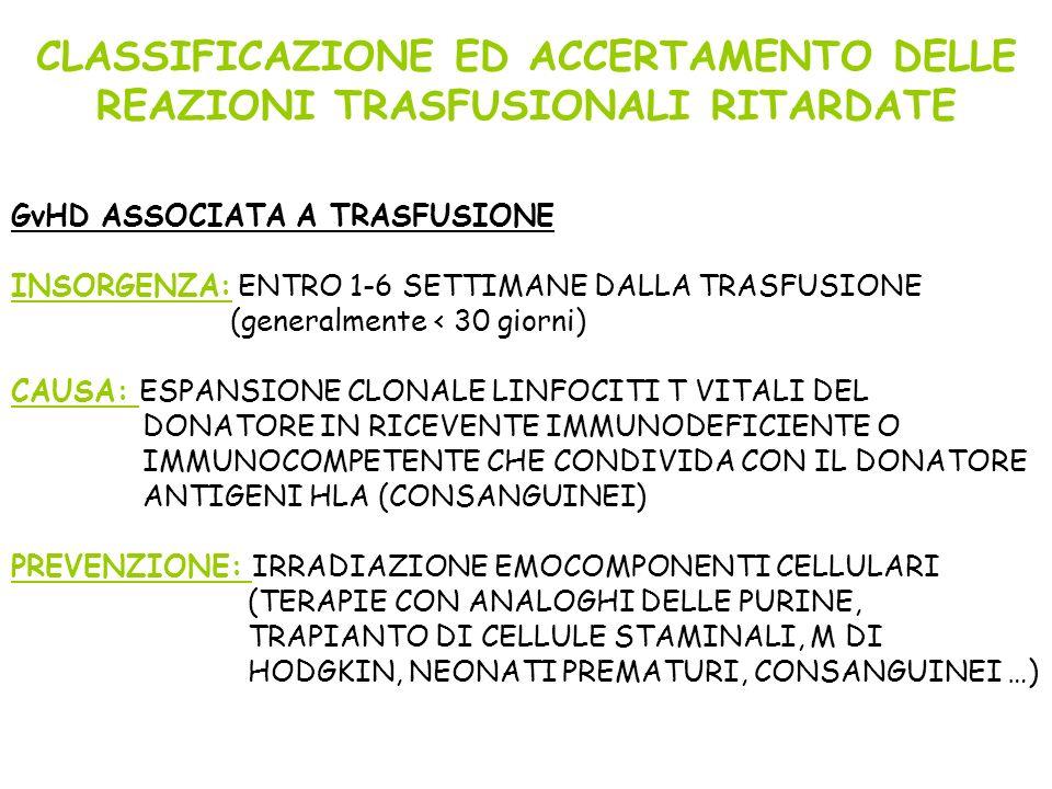 CLASSIFICAZIONE ED ACCERTAMENTO DELLE