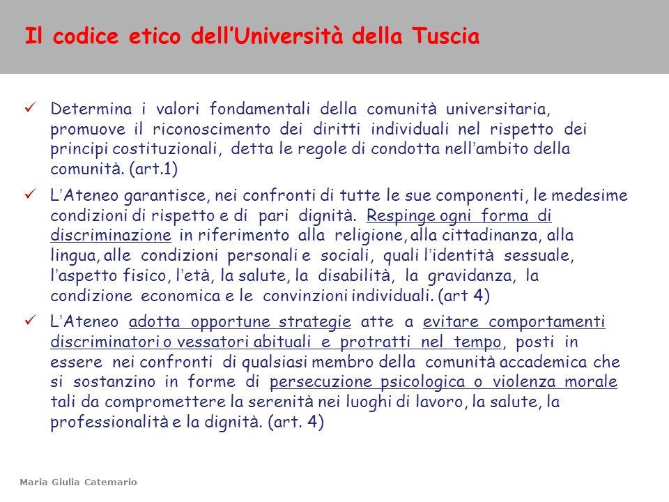 Il codice etico dell'Università della Tuscia