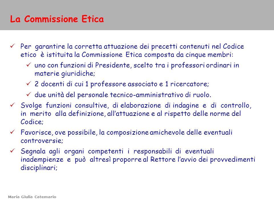 La Commissione Etica