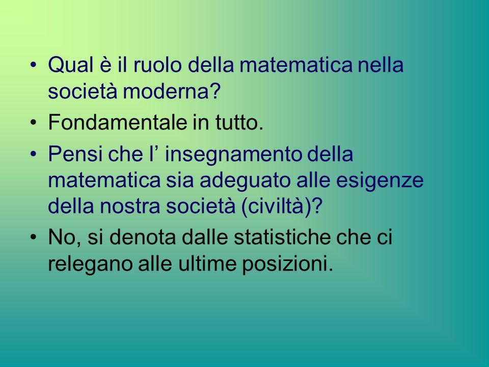 Qual è il ruolo della matematica nella società moderna