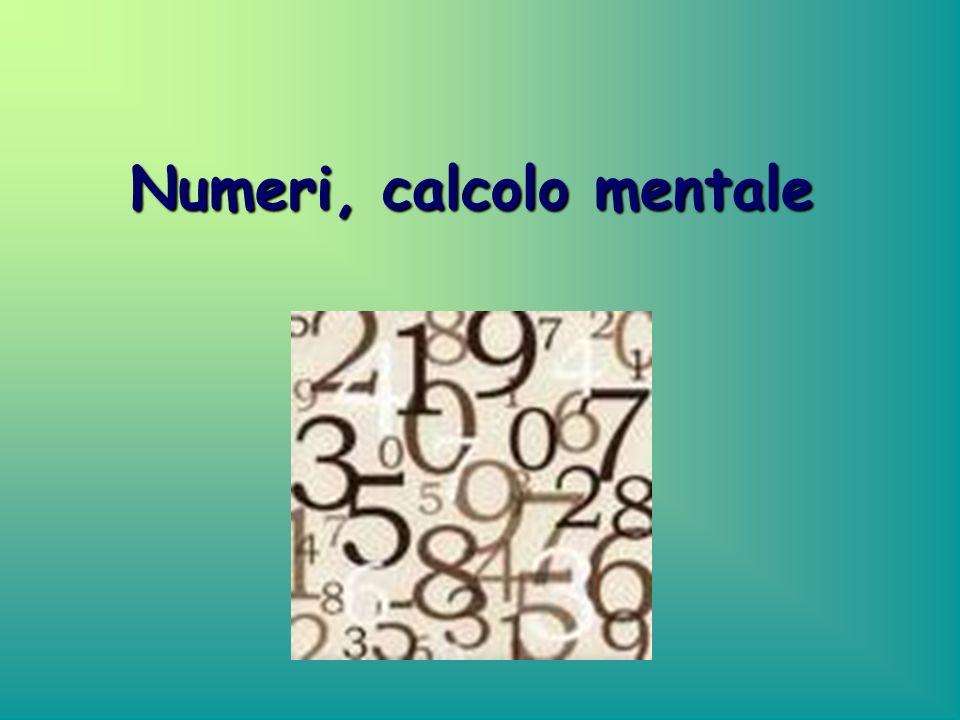 Numeri, calcolo mentale