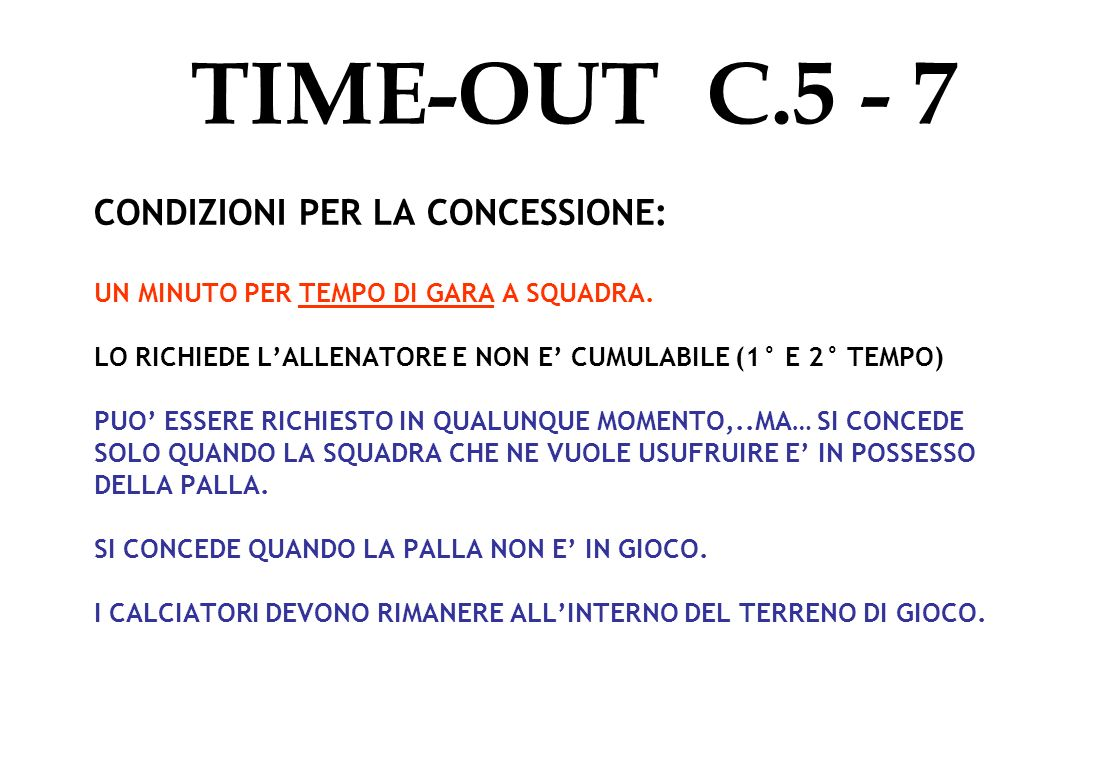 TIME-OUT C.5 - 7