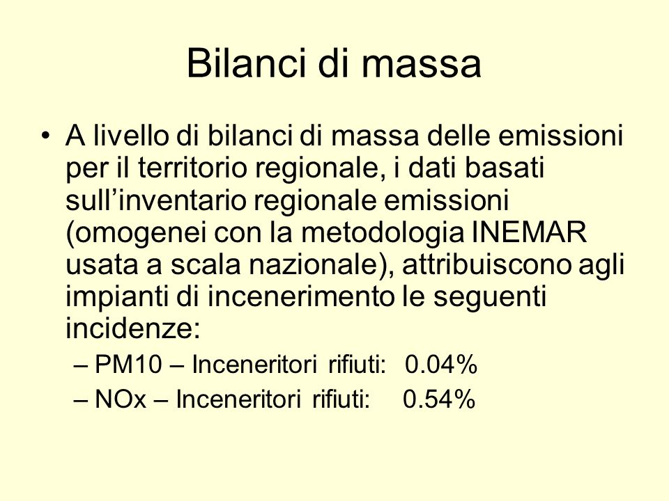 Bilanci di massa