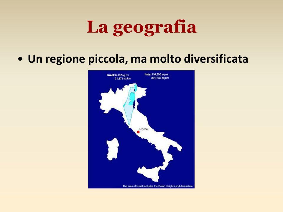 La geografia Un regione piccola, ma molto diversificata