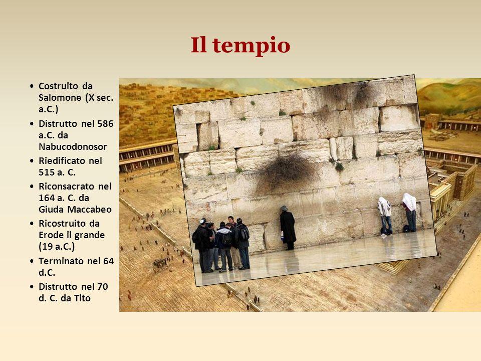 Il tempio Costruito da Salomone (X sec. a.C.)