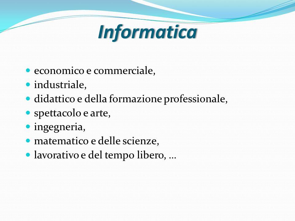 Informatica economico e commerciale, industriale,