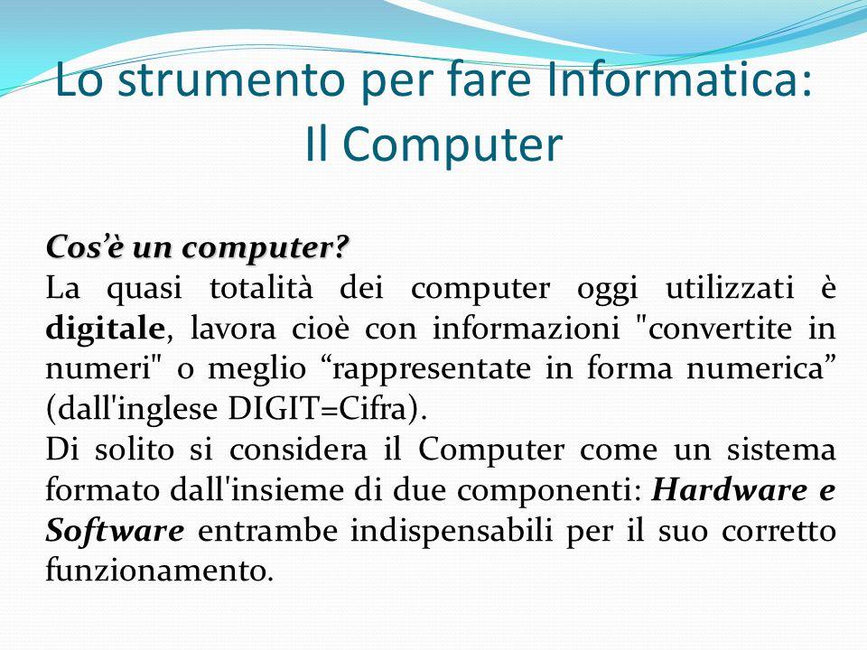 Lo strumento per fare Informatica: Il Computer