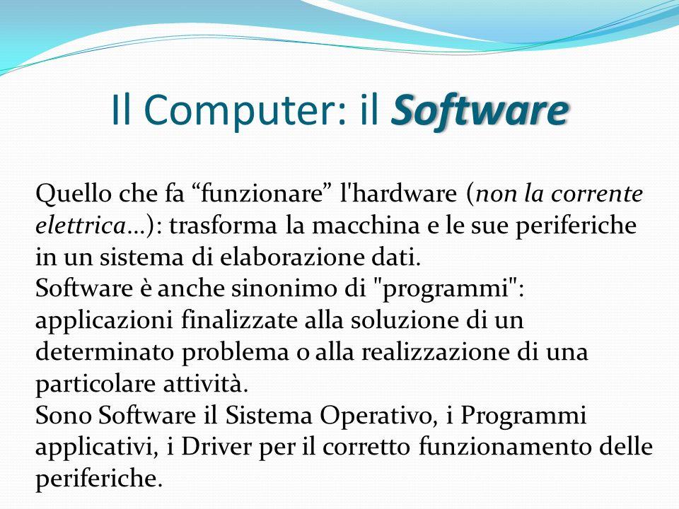 Il Computer: il Software