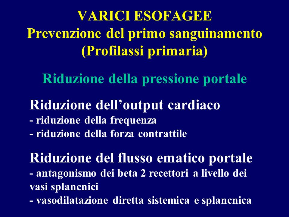 Riduzione della pressione portale