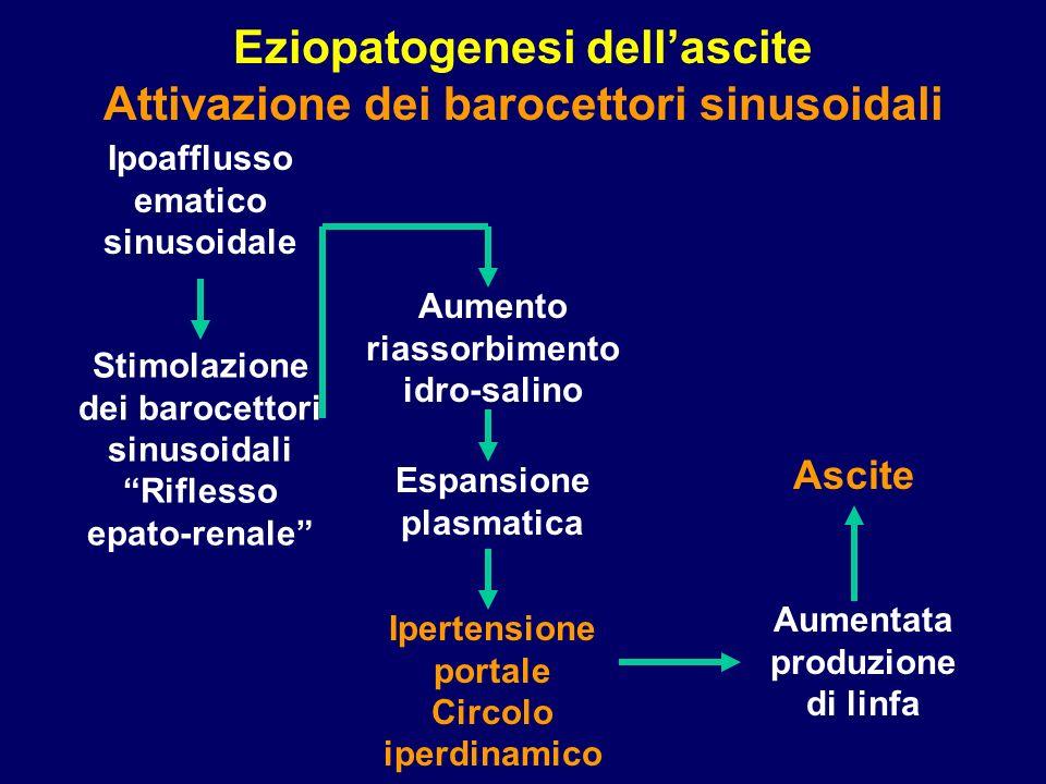 Eziopatogenesi dell'ascite Attivazione dei barocettori sinusoidali