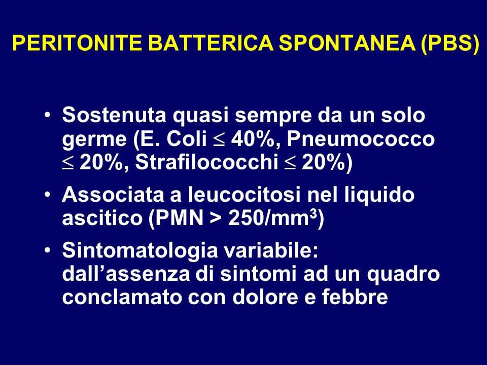 PERITONITE BATTERICA SPONTANEA (PBS)