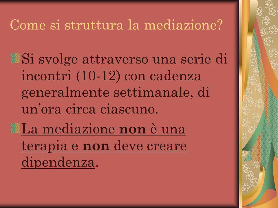Come si struttura la mediazione