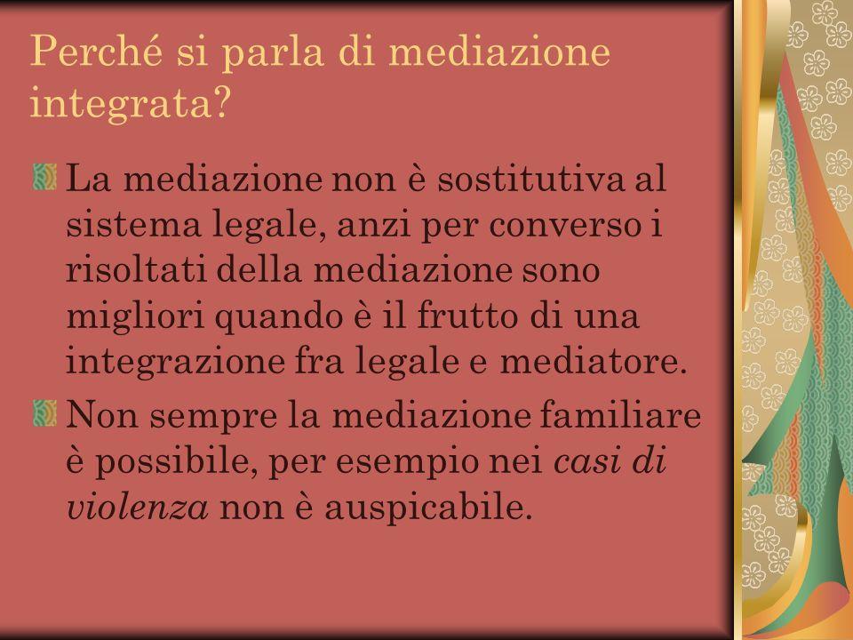 Perché si parla di mediazione integrata