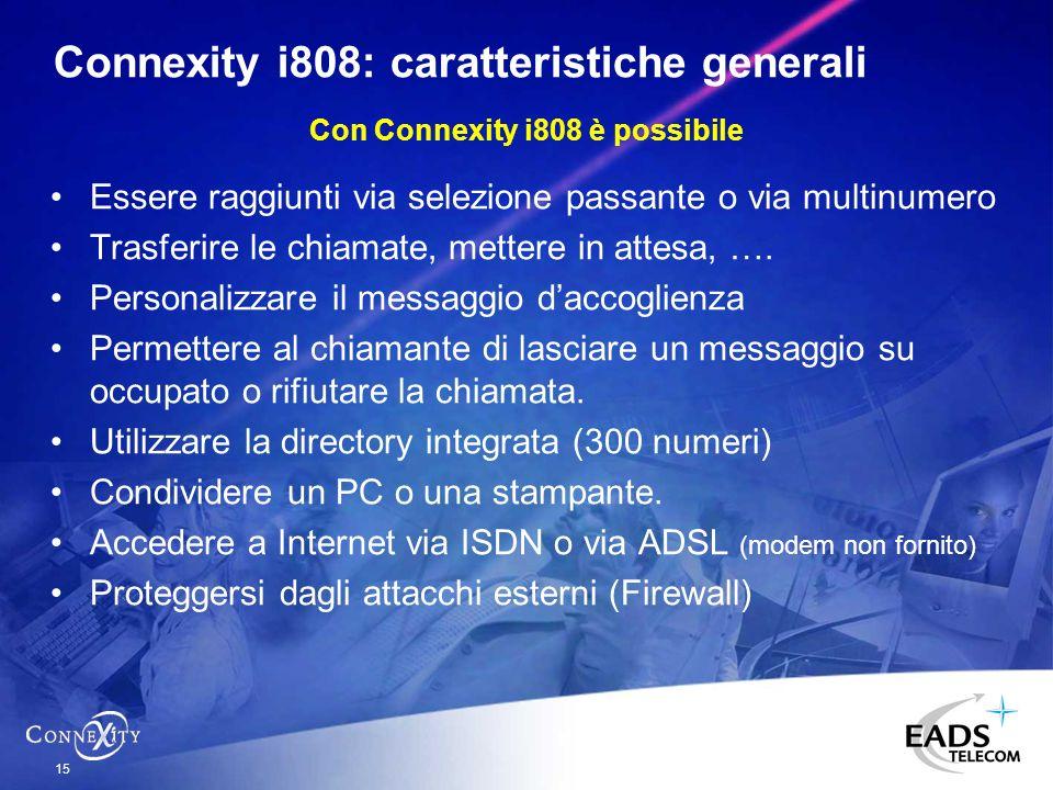Connexity i808: caratteristiche generali