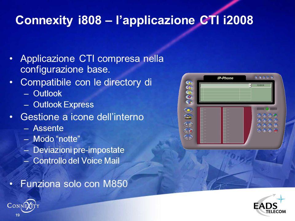 Connexity i808 – l'applicazione CTI i2008