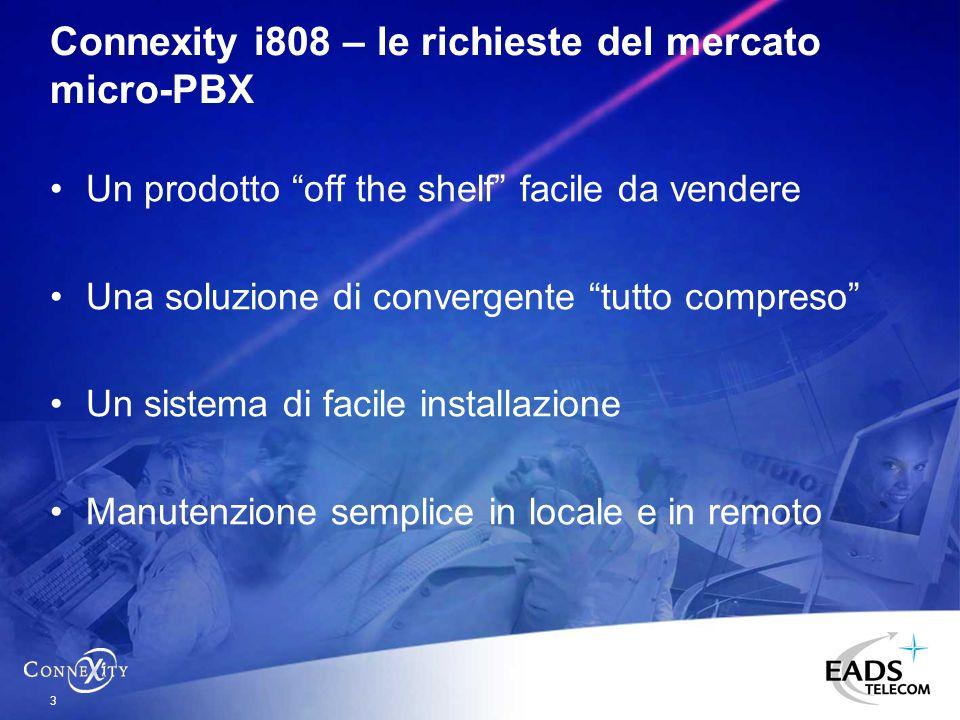 Connexity i808 – le richieste del mercato micro-PBX
