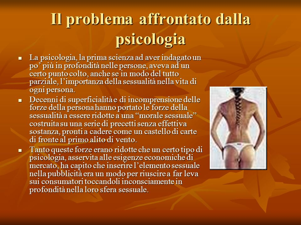 Il problema affrontato dalla psicologia