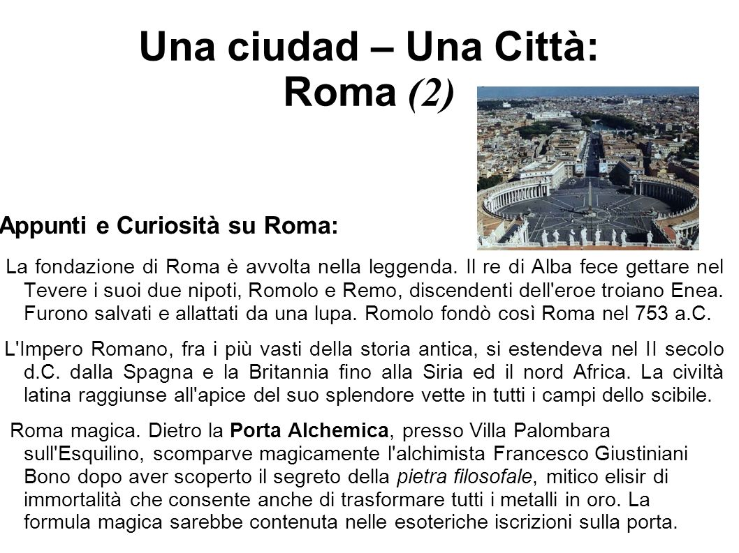 Una ciudad – Una Città: Roma (2)