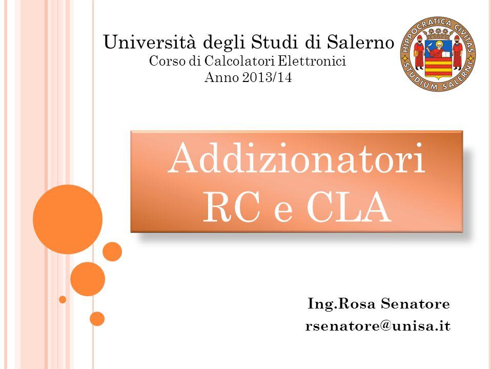 Ing.Rosa Senatore rsenatore@unisa.it