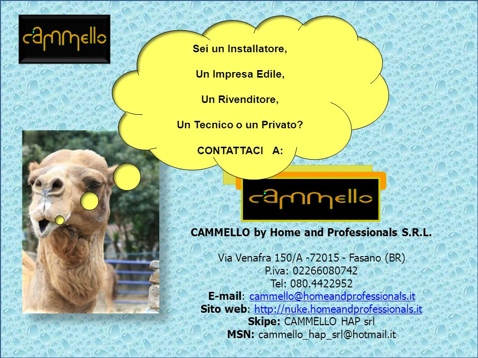 CAMMELLO by Home and Professionals S.R.L.