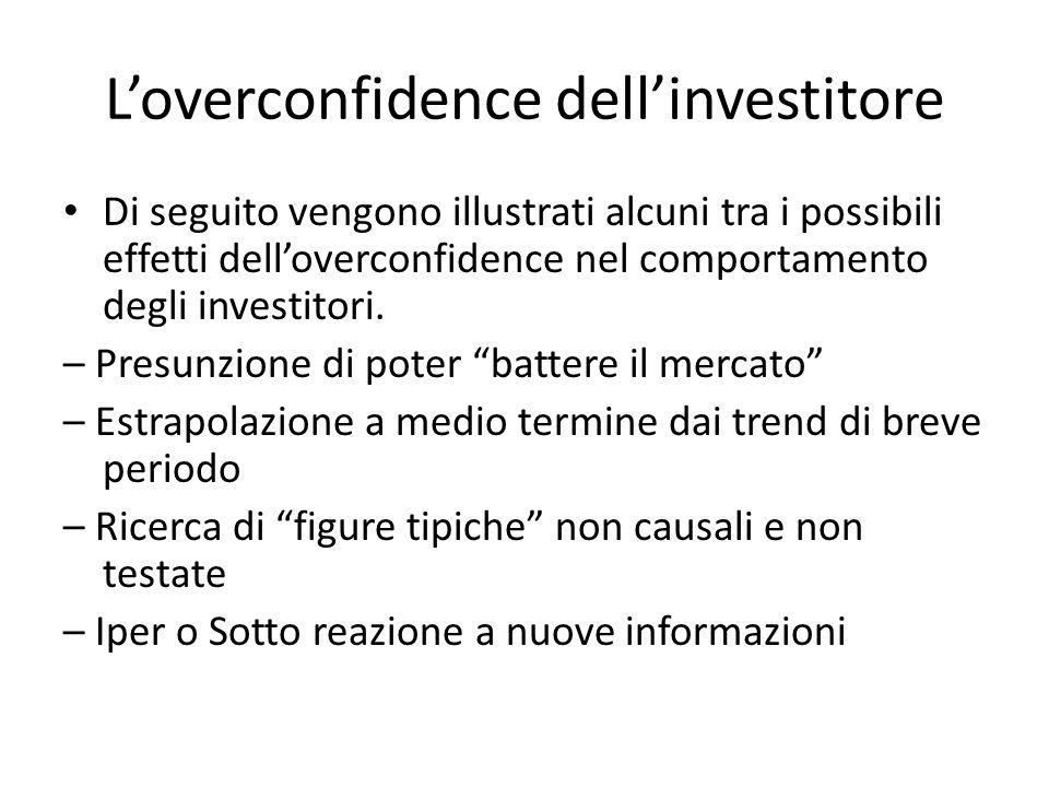 L'overconfidence dell'investitore