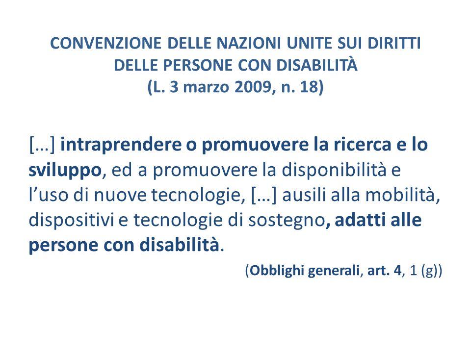 CONVENZIONE DELLE NAZIONI UNITE SUI DIRITTI DELLE PERSONE CON DISABILITÀ (L. 3 marzo 2009, n. 18)