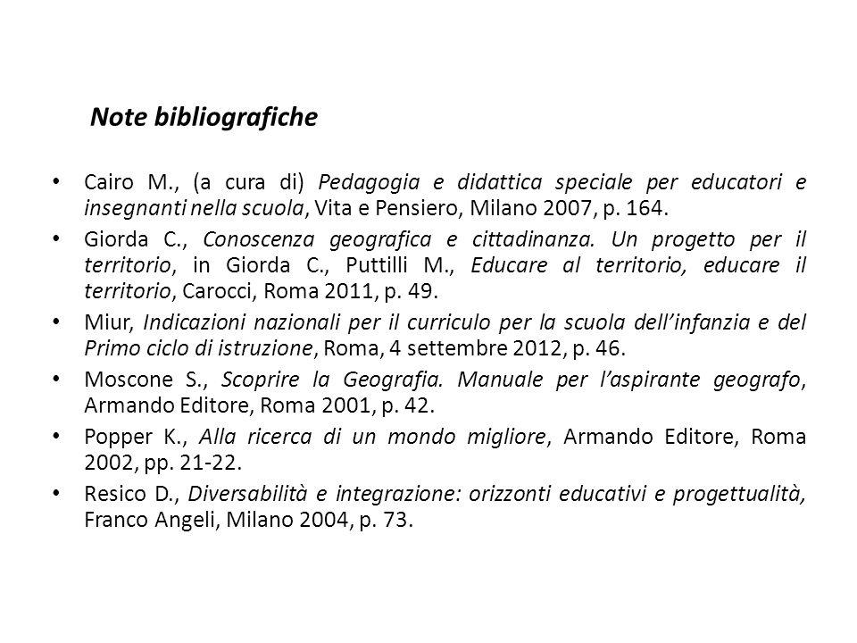Note bibliografiche
