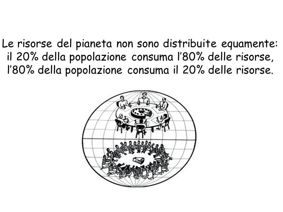 Le risorse del pianeta non sono distribuite equamente: