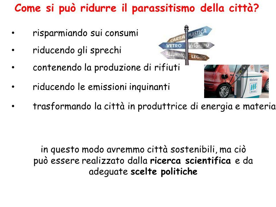Come si può ridurre il parassitismo della città