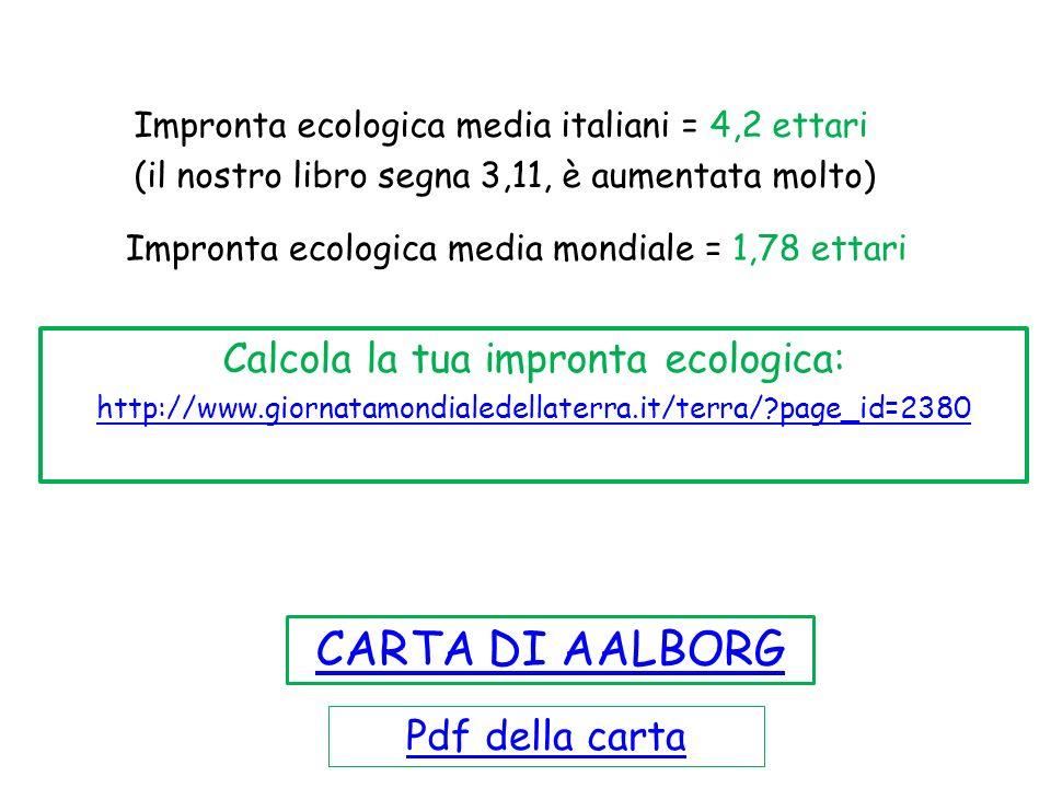 Calcola la tua impronta ecologica: