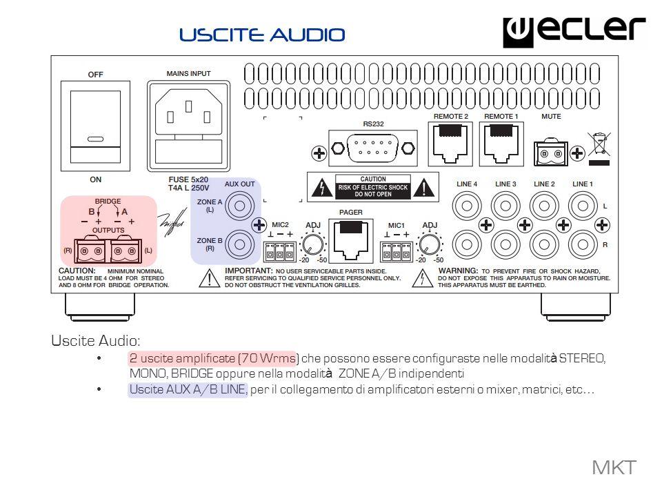 USCITE AUDIO Uscite Audio: