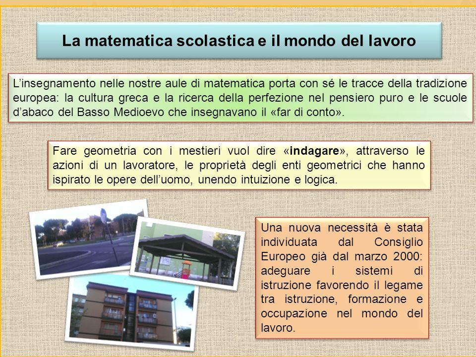 La matematica scolastica e il mondo del lavoro