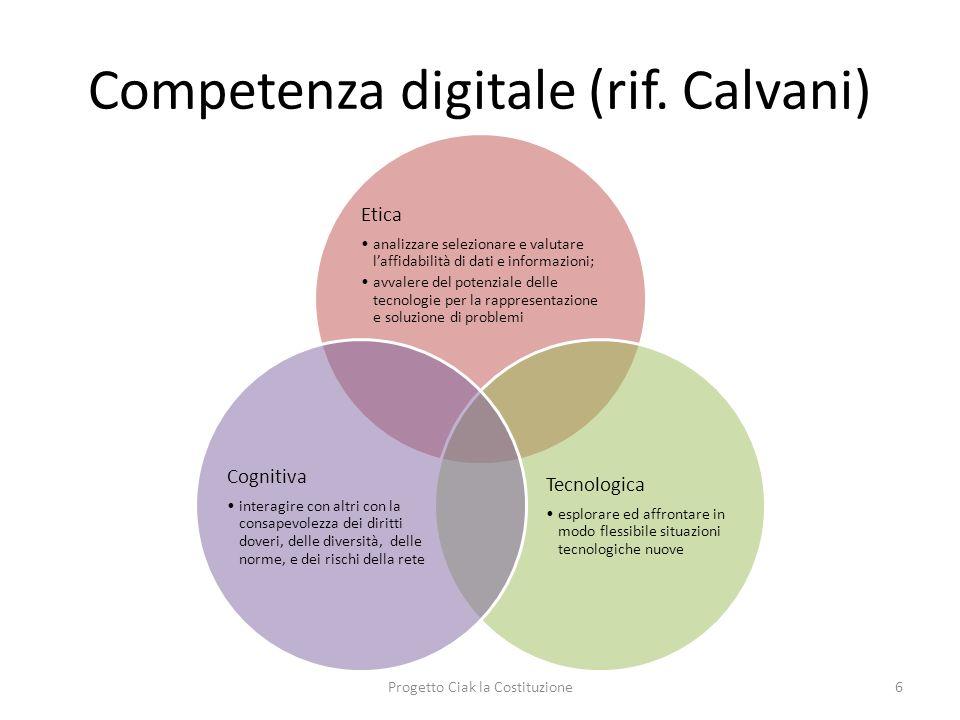 Competenza digitale (rif. Calvani)