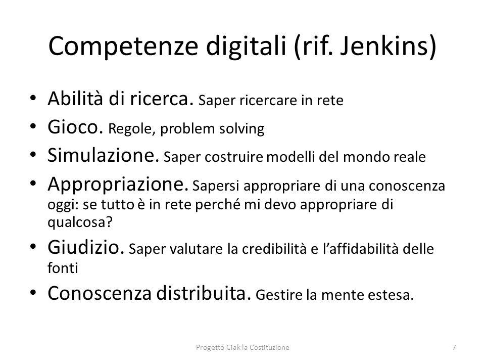 Competenze digitali (rif. Jenkins)