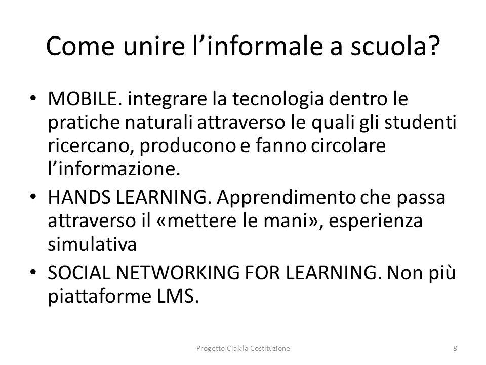 Come unire l'informale a scuola