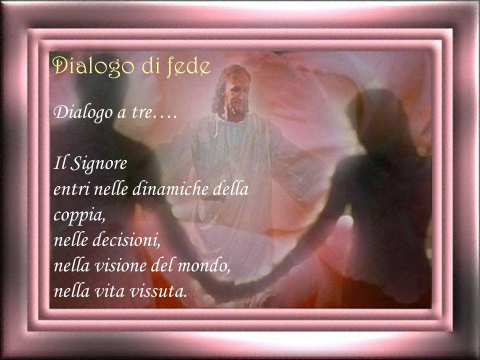 Dialogo di fede Dialogo a tre…. Il Signore