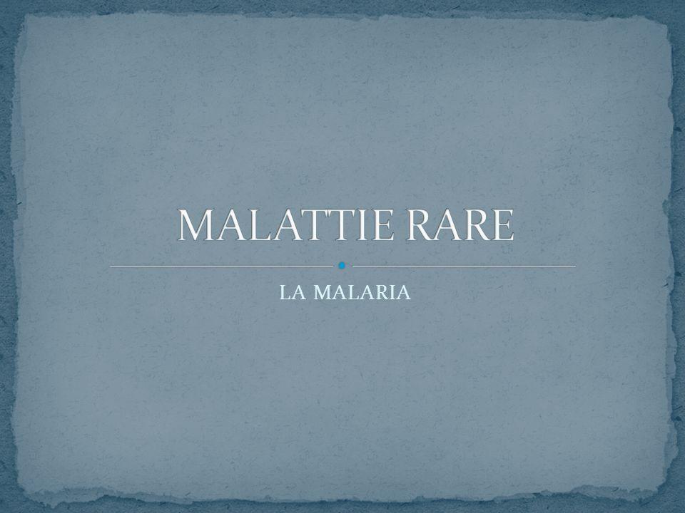 MALATTIE RARE LA MALARIA