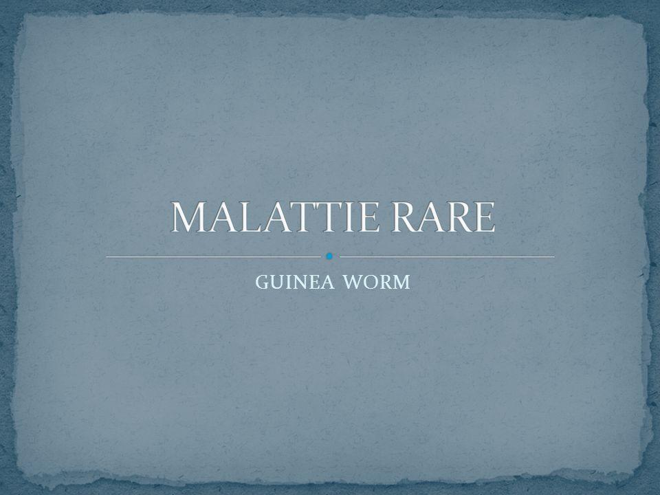 MALATTIE RARE GUINEA WORM