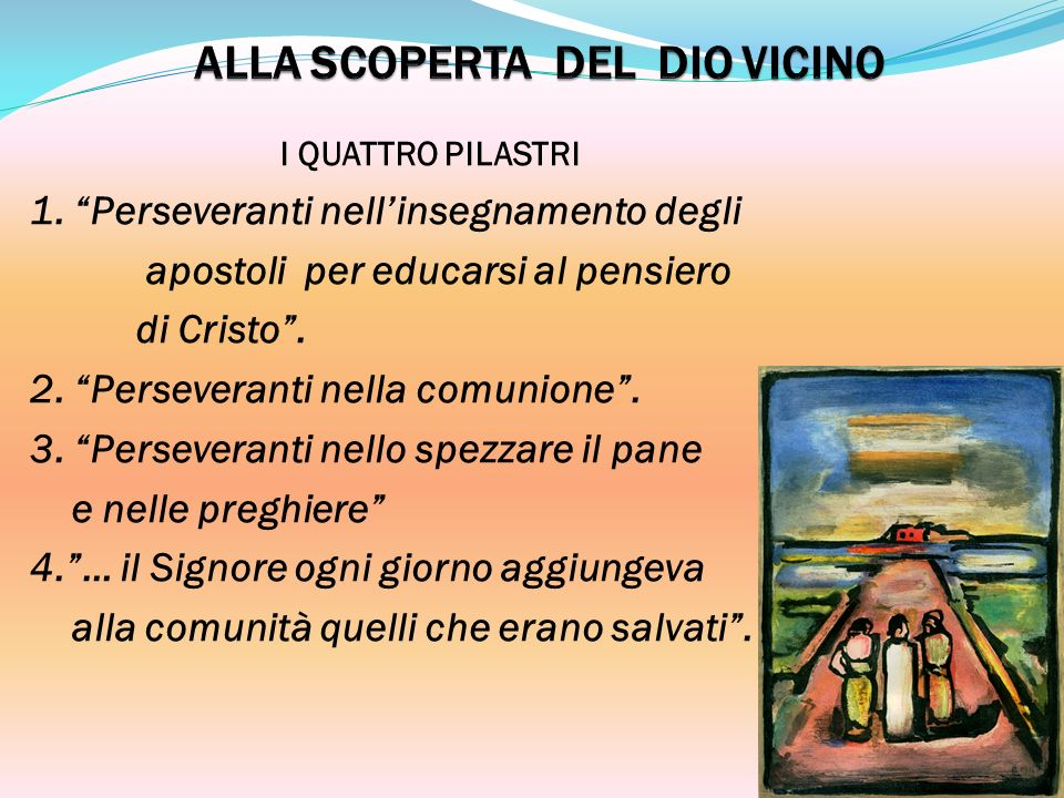 ALLA SCOPERTA DEL DIO VICINO