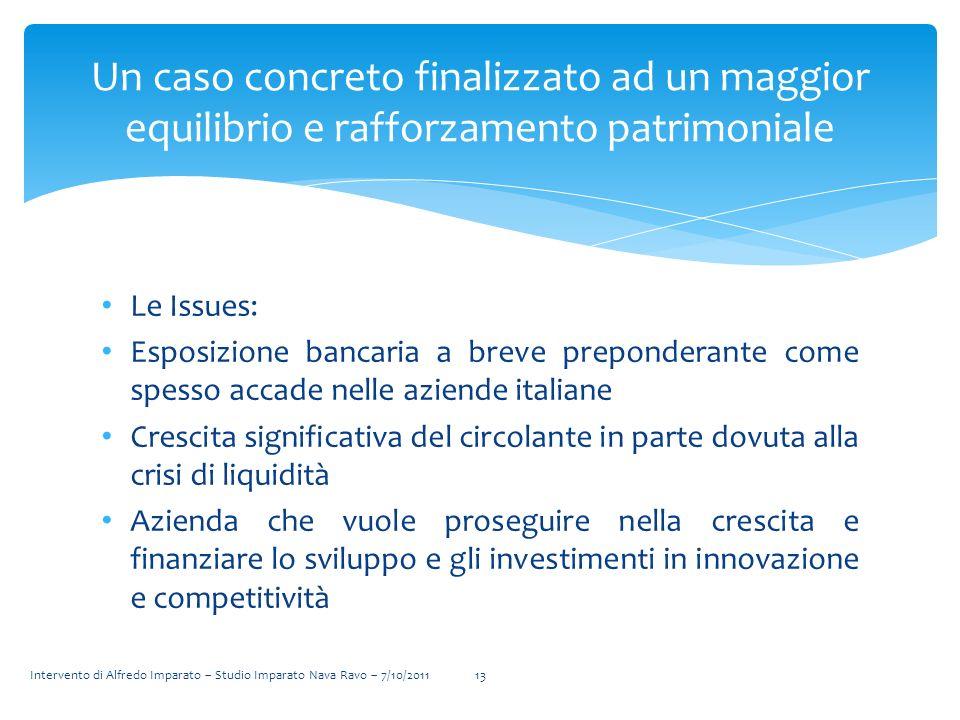 Un caso concreto finalizzato ad un maggior equilibrio e rafforzamento patrimoniale