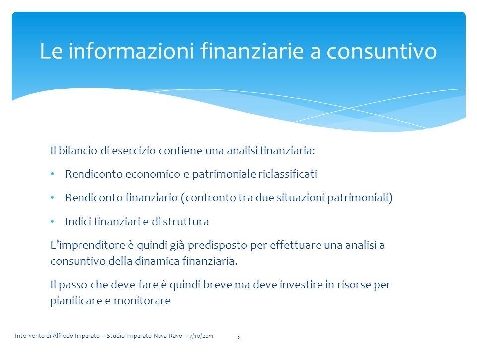Le informazioni finanziarie a consuntivo