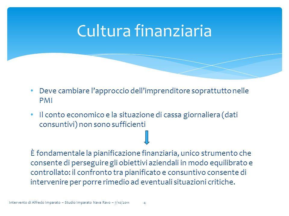 Cultura finanziaria Deve cambiare l'approccio dell'imprenditore soprattutto nelle PMI.