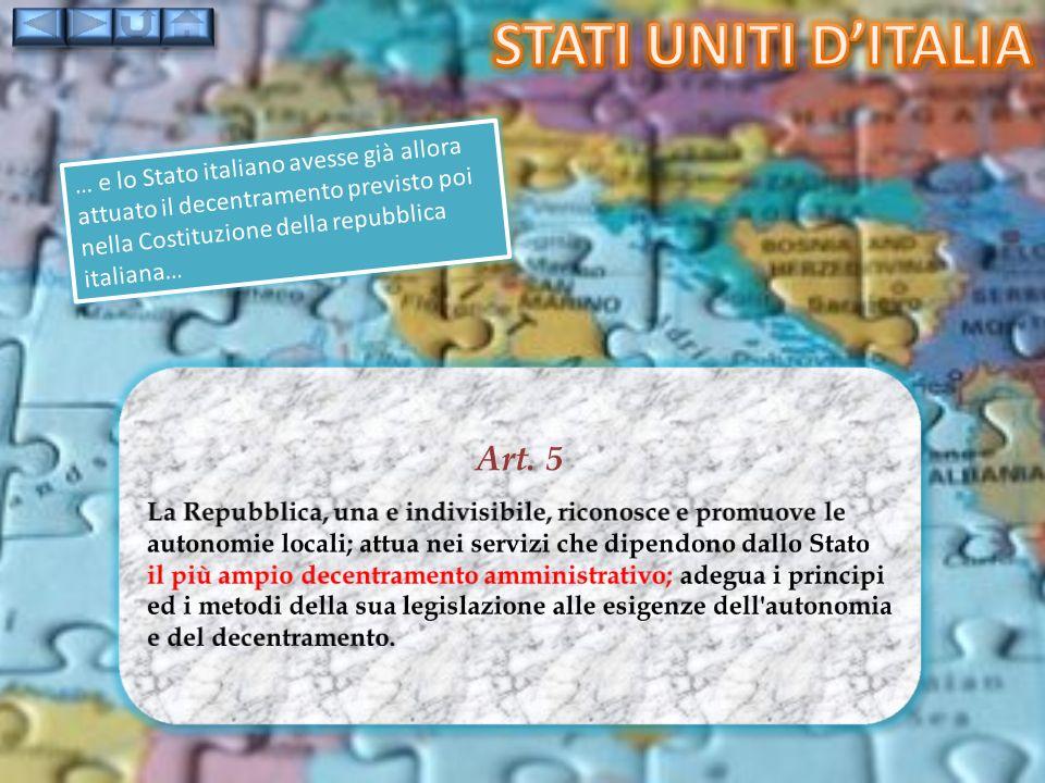 Stati uniti d'italia Art. 5