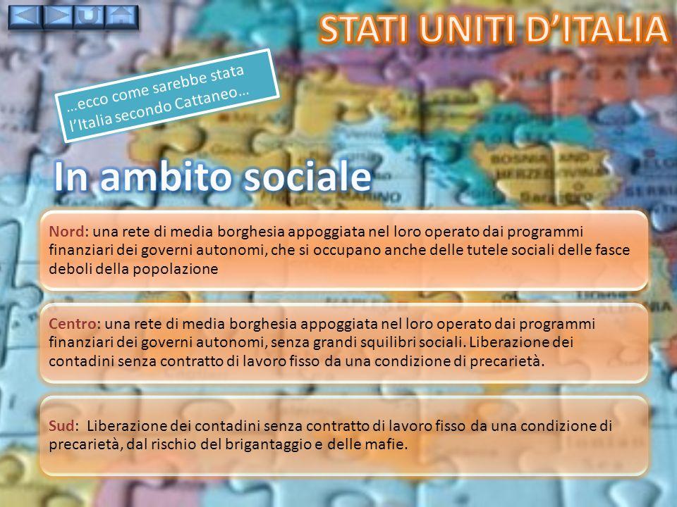 In ambito sociale Stati uniti d'italia