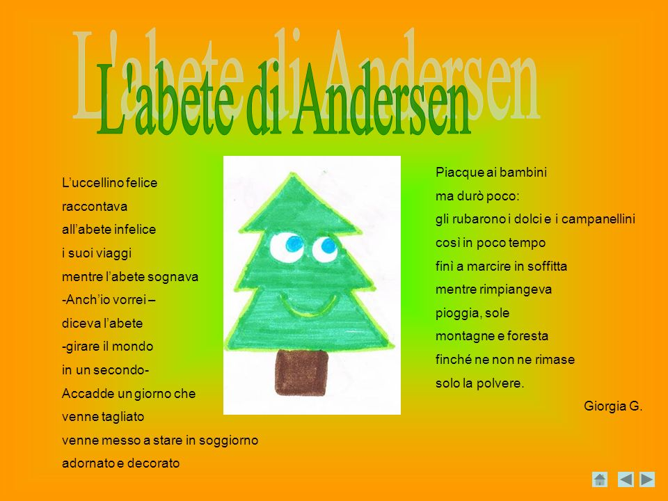 L abete di Andersen Piacque ai bambini ma durò poco: