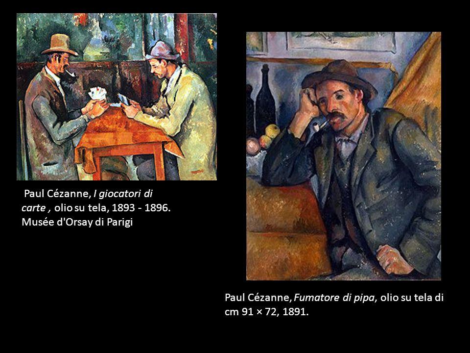 Paul Cézanne, I giocatori di carte , olio su tela, 1893 - 1896