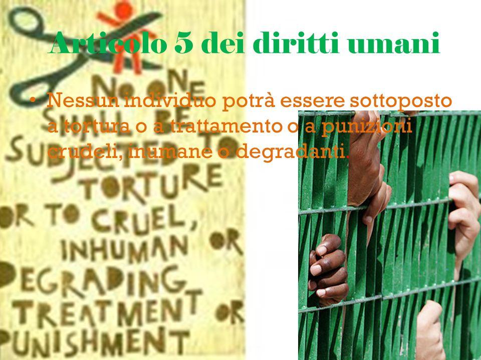 Articolo 5 dei diritti umani