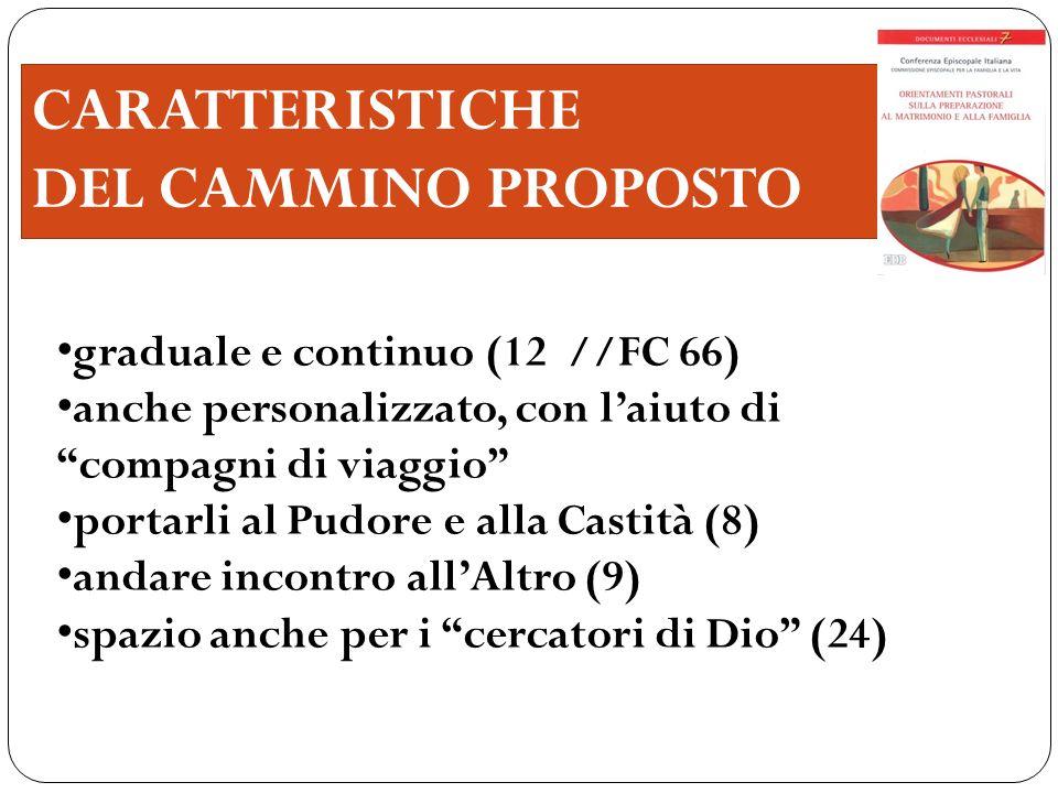 CARATTERISTICHE DEL CAMMINO PROPOSTO graduale e continuo (12 //FC 66)